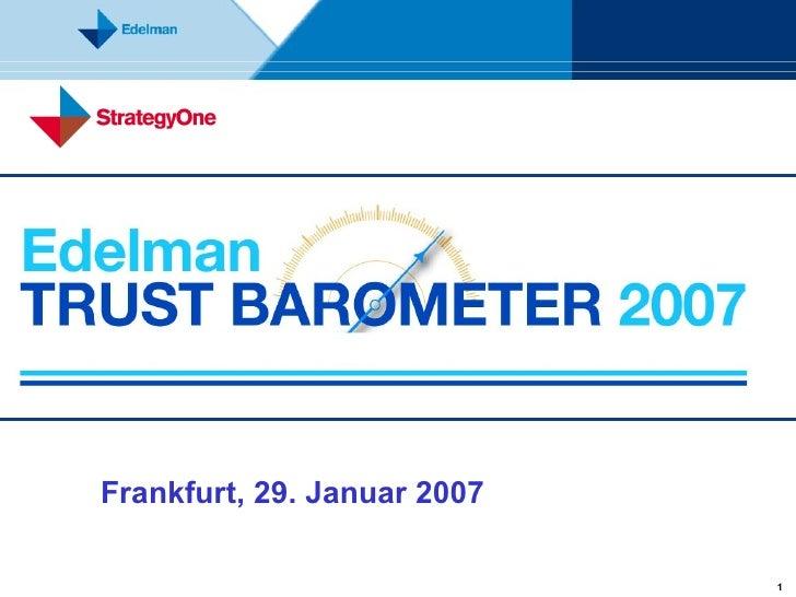 Frankfurt, 29. Januar 2007