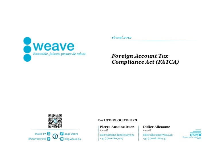 16 mai 2012                                          Foreign Account Tax                                          Complian...