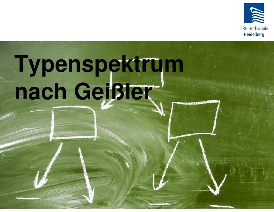 Typenspektrum nach Geißler