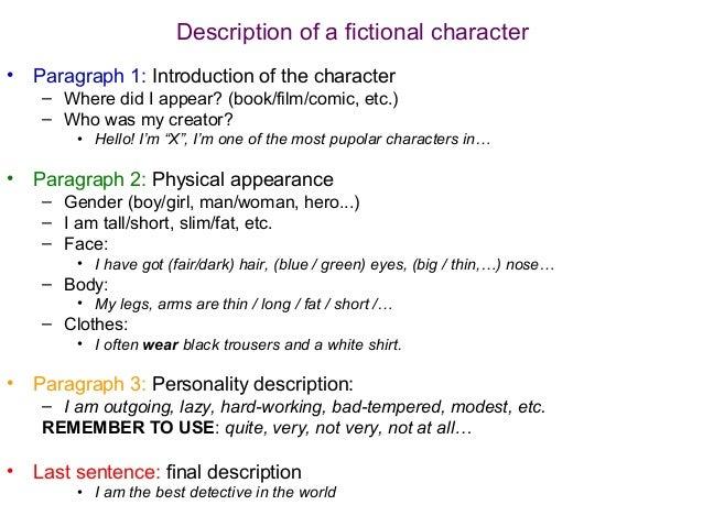 character description paragraph