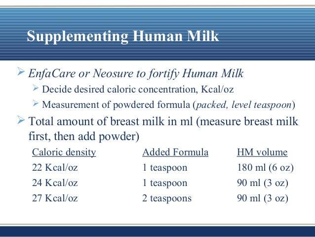Fortify breast milk