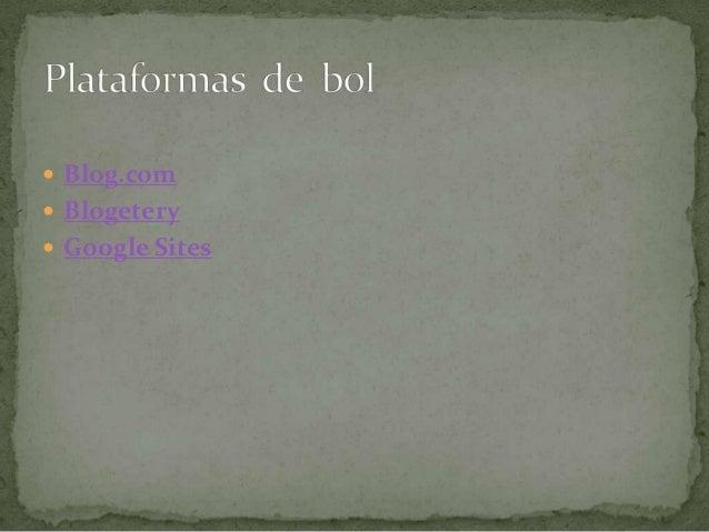  Blog.com Blogetery Google Sites