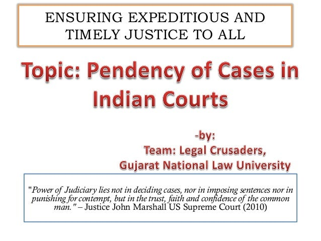 """""""Power of Judiciary lies not in deciding cases, nor in imposing sentences nor in punishing for contempt, but in the trust,..."""