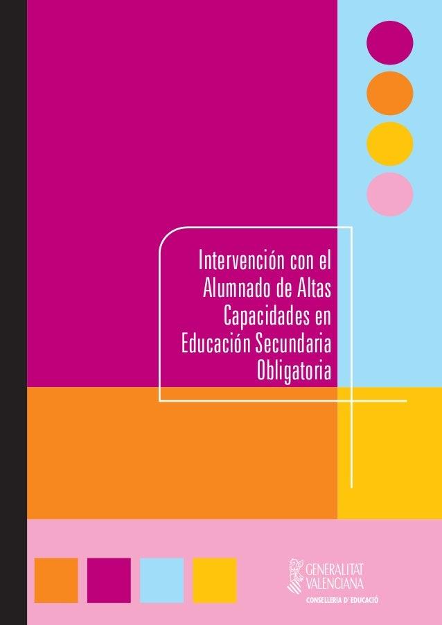 Capacidades en Educación Secundaria ObligatoriaCONSELLERIA D EDUCACIÓ                                        Intervención ...