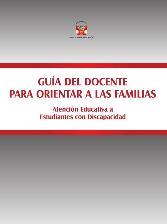 Título del libro: GUÍA DEL DOCENTE PARA ORIENTAR A LAS FAMILIAS Atenc…