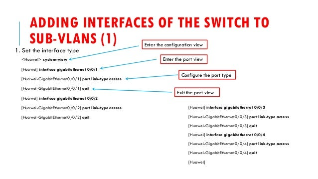 Huawei Switch How To - Configuring VLAN Aggregation
