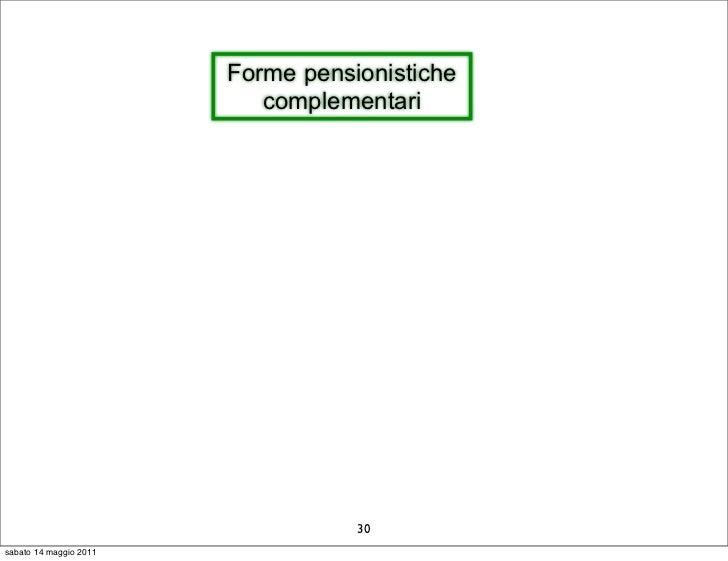 Forme pensionistiche                           complementari                                   30sabato 14 maggio 2011
