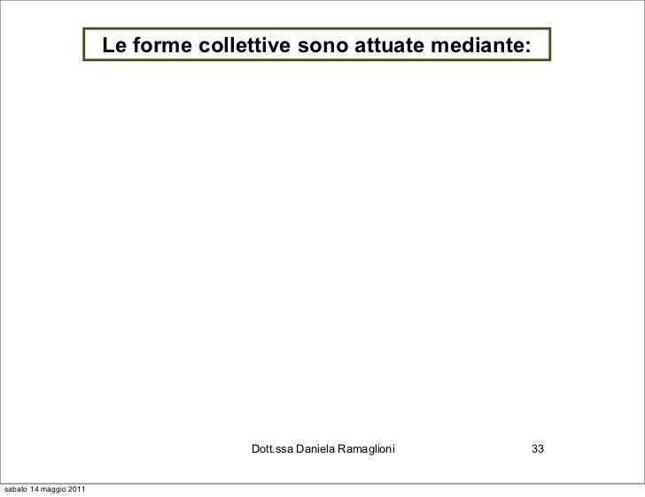 Le forme collettive sono attuate mediante:                                      Dott.ssa Daniela Ramaglioni   33sabato 14 ...