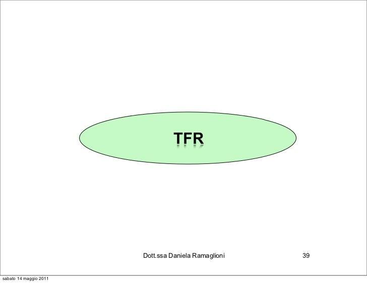 TFR                        Dott.ssa Daniela Ramaglioni   39sabato 14 maggio 2011