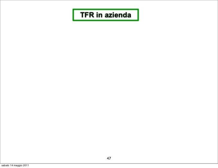 TFR in azienda                               47sabato 14 maggio 2011