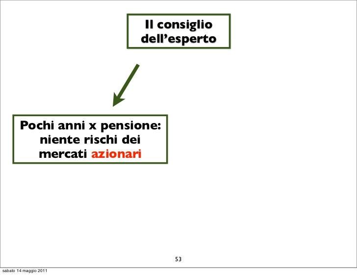 Il consiglio                          dell'esperto        Pochi anni x pensione:           niente rischi dei          merc...