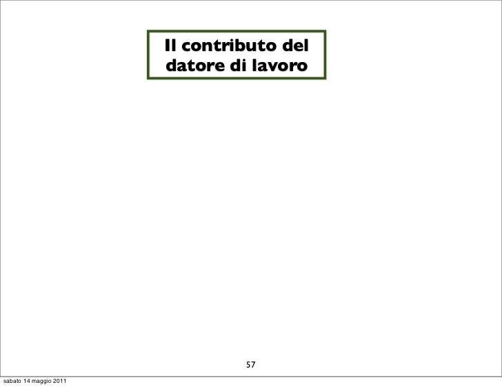 Il contributo del                        datore di lavoro                                 57sabato 14 maggio 2011