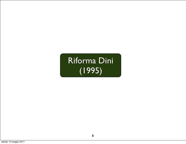 Riforma Dini                           (1995)                              8sabato 14 maggio 2011