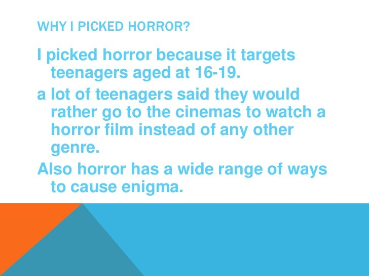 CONVERSIONS OF HORRORHorror films are designed to:Scare the audienceCause dread and alarmTo gore the audience ,making then...