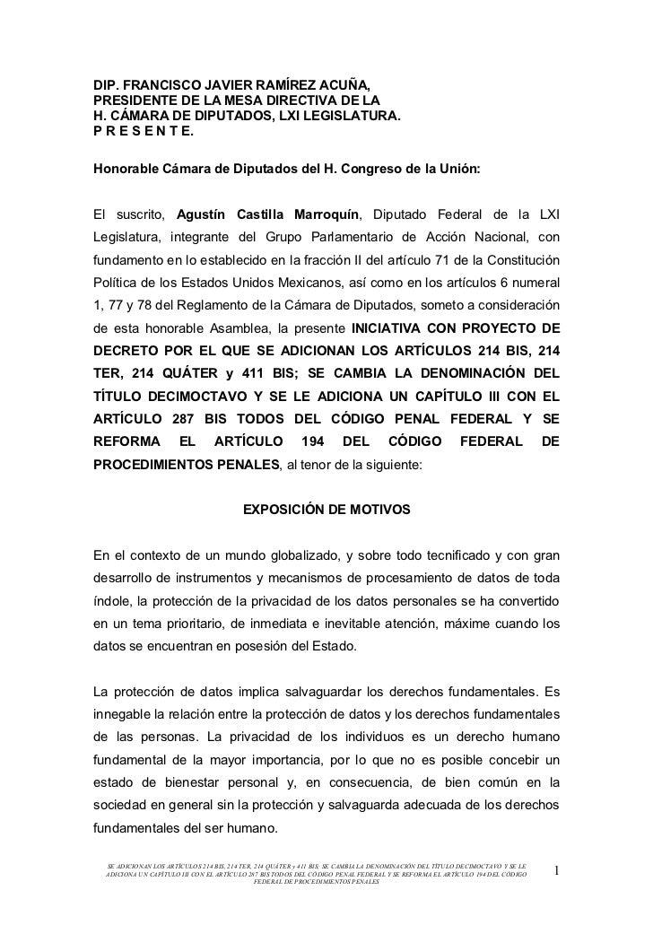 DIP. FRANCISCO JAVIER RAMÍREZ ACUÑA,PRESIDENTE DE LA MESA DIRECTIVA DE LAH. CÁMARA DE DIPUTADOS, LXI LEGISLATURA.P R E S E...