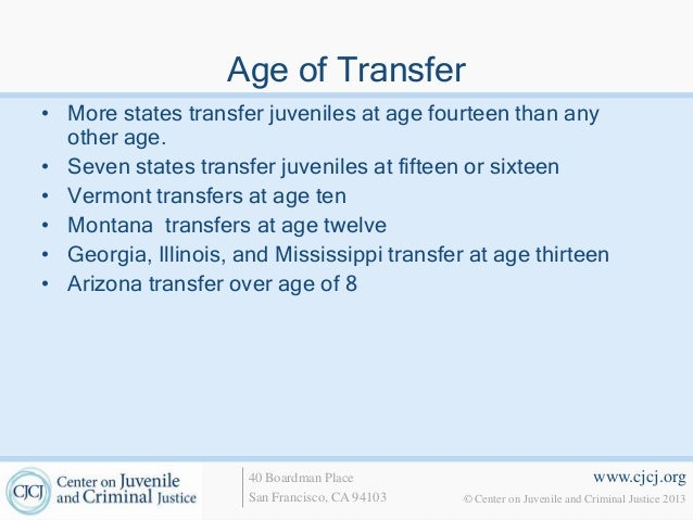 Juvenile transfer to adult court