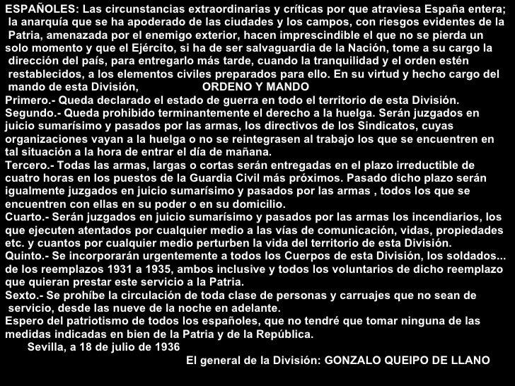 <ul><li>ESPAÑOLES: Las circunstancias extraordinarias y críticas por que atraviesa España entera; </li></ul><ul><li>la ana...