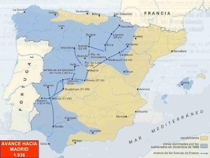 AVANCE HACIA MADRID 1.936
