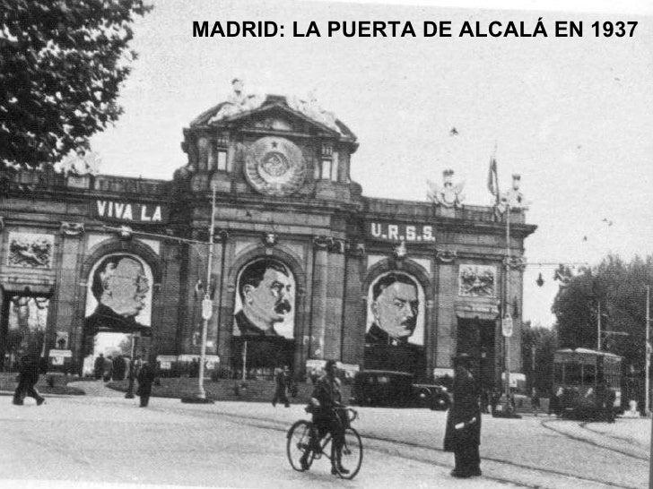 MADRID: LA PUERTA DE ALCALÁ EN 1937