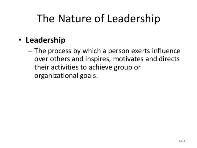 in organizations leadership can be exerted