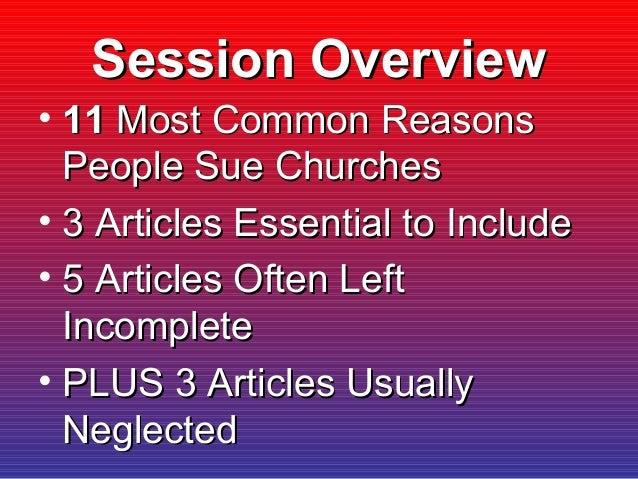 8 Legal Concerns For Constitutions & Bylaws Slide 2
