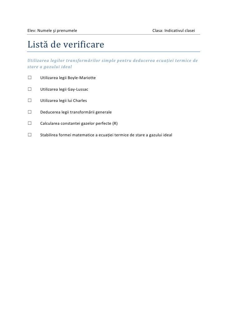 Elev: Numele şi prenumele                                          Clasa: Indicativul claseiListă de verificareUtilizarea ...