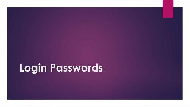 Login Passwords
