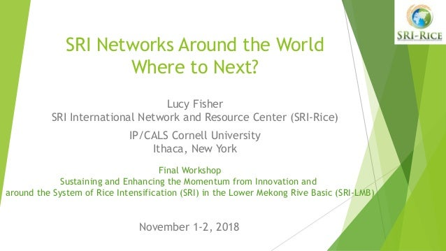 SRI Networks Around the World Where to Next? Lucy Fisher SRI International Network and Resource Center (SRI-Rice) IP/CALS ...