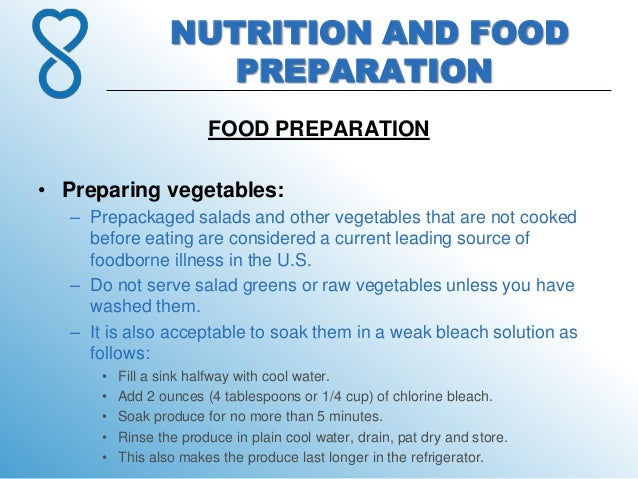 8 Nutrition And Food Preparation