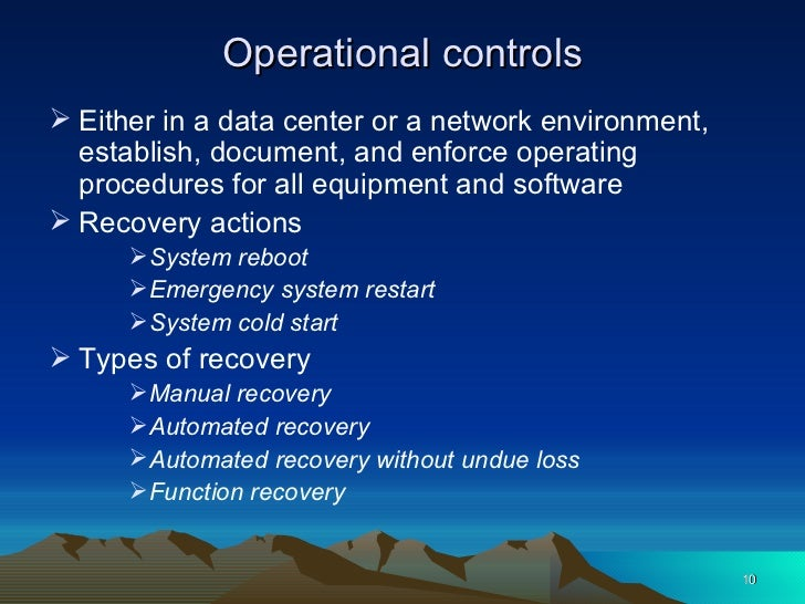 8. operations security