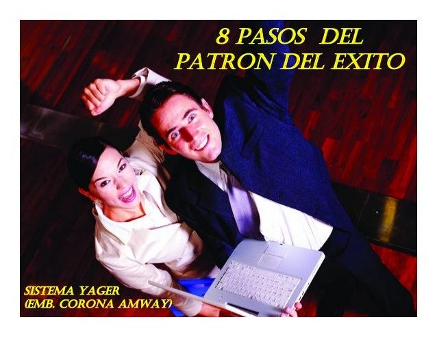 8 PASOS DEL                      PATRON DEL EXITOSISTEMA YAGER(EMB. CORONA AMWAY)