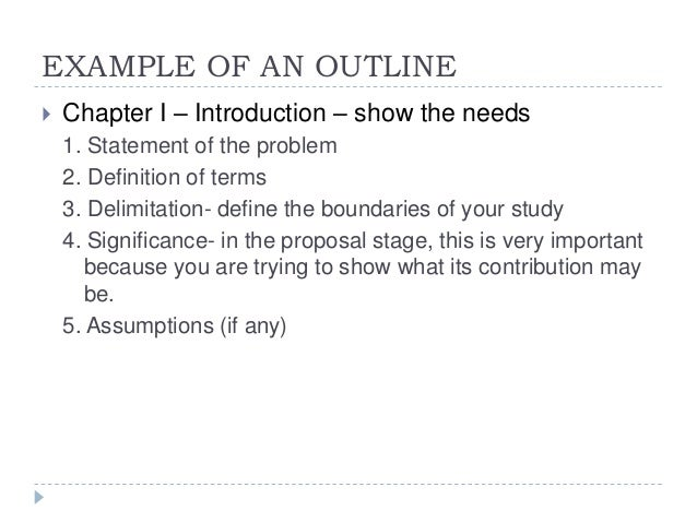 Chapter One of Your Thesis AED Fall Dr Ed Franklin Format for a  quantitative research proposal