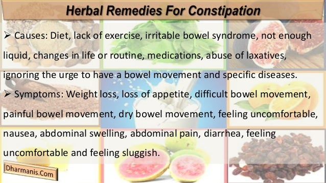 Herbal Remedies For Constipation The Natural Method