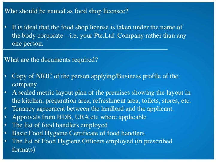 How To Apply For Food Hygiene Certificate