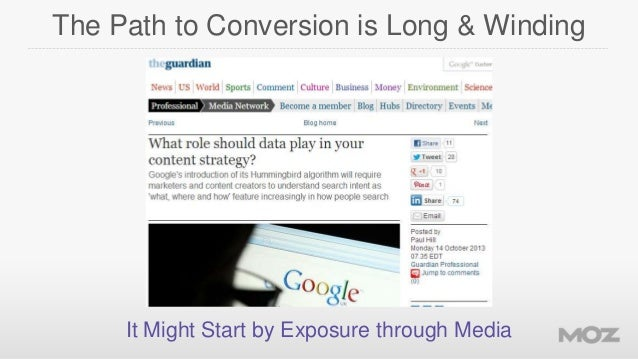The Path to Conversion is Long & Winding  It Might Start by Exposure through Media