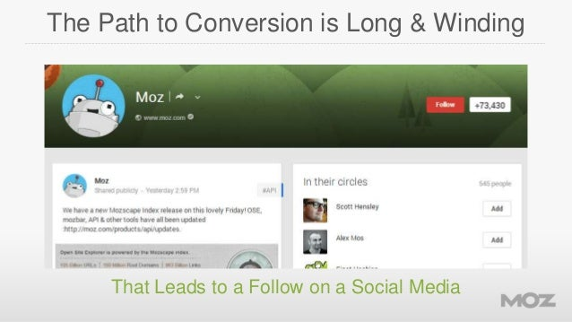The Path to Conversion is Long & Winding  That Leads to a Follow on a Social Media