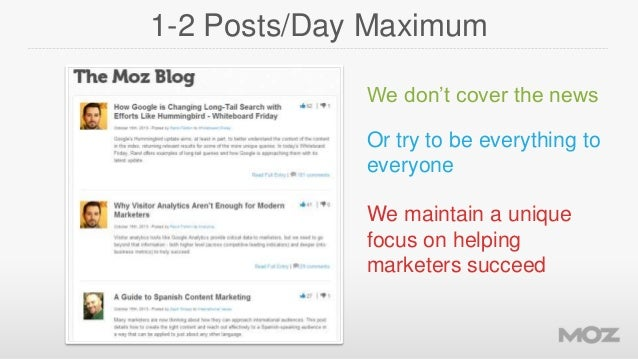 1-2 Posts/Day Maximum We don't cover the news  Or try to be everything to everyone We maintain a unique focus on helping m...