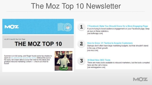 The Moz Top 10 Newsletter