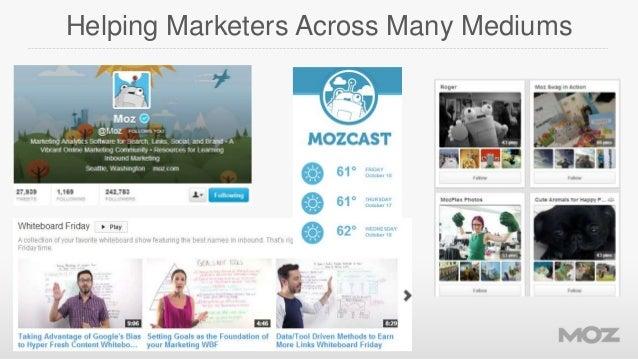 Helping Marketers Across Many Mediums