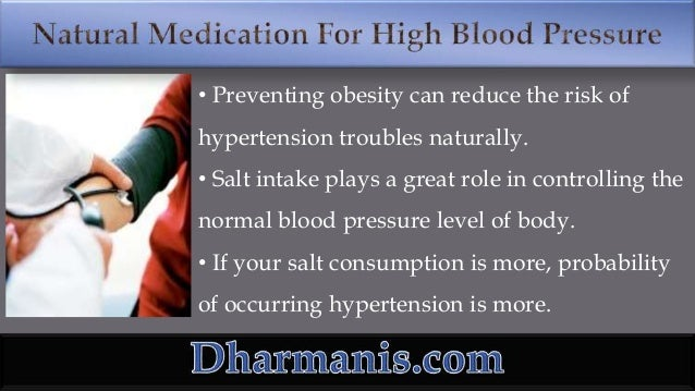 Is There Any Safe Natural Medication To Treat High Blood ...