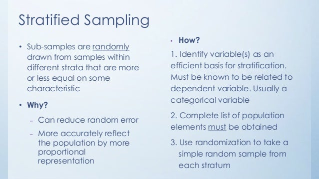 How to get a stratified random sample youtube.