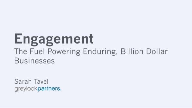 Why Engagement Matters to Investors - Sarah Tavel, Partner, Greylock Partners - 2016 Habit Summit Slide 1