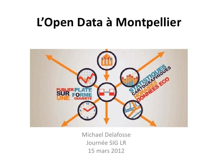L'Open Data à Montpellier       Michael Delafosse        Journée SIG LR         15 mars 2012