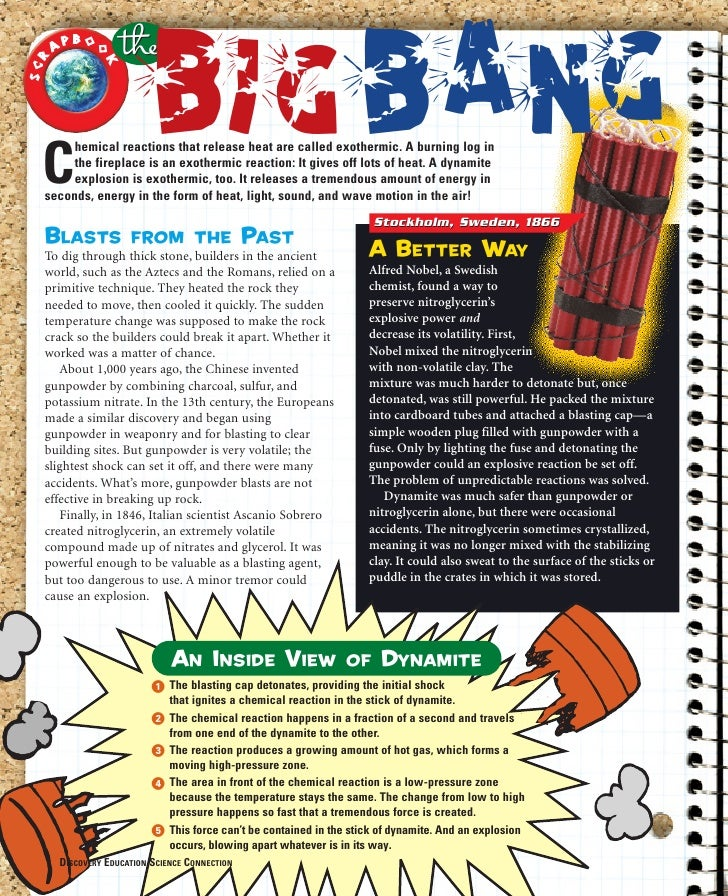 O      C                        Big Bang         hemical reactions that release heat are called exothermic. A burning log ...