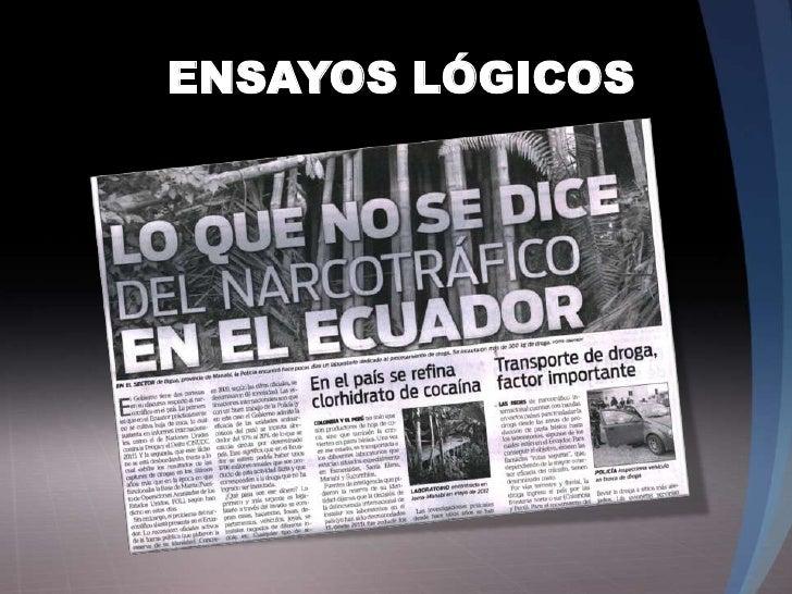 ENSAYOS LÓGICOS