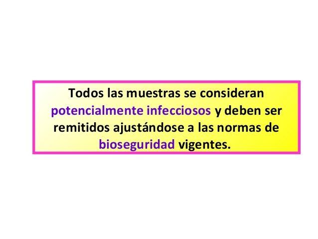 Los análisis a los parásitos en infeccioso