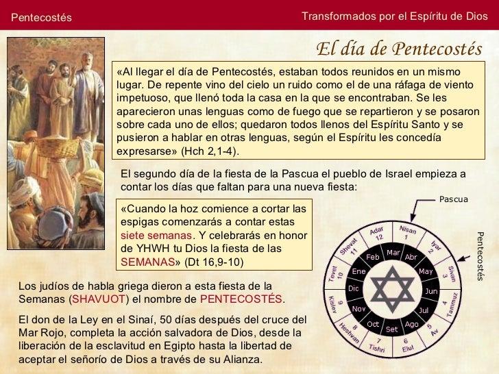 Pentecostés Transformados por el Espíritu de Dios « Al llegar el día de Pentecostés, estaban todos reunidos en un mismo lu...