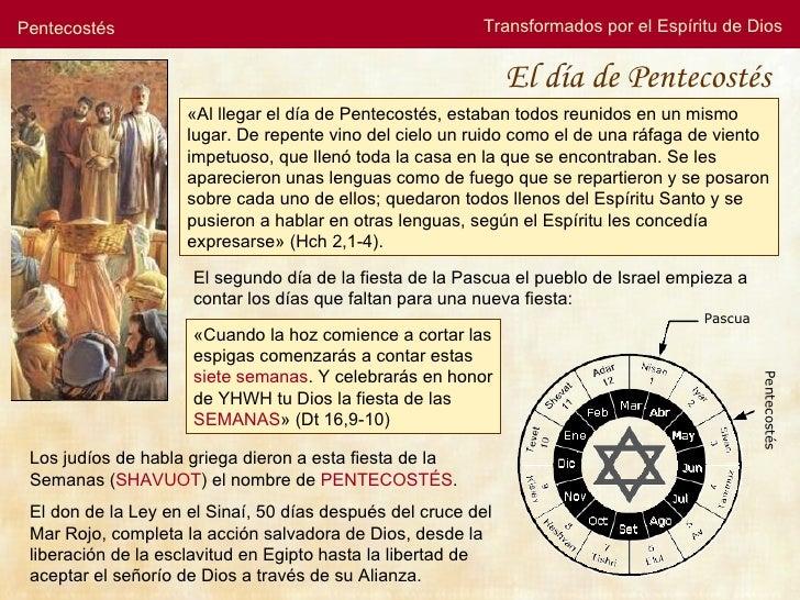 Pentecostés                                               Transformados por el Espíritu de Dios                           ...