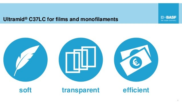Ultramid® C37LC for films and monofilaments 2 soft transparent efficient