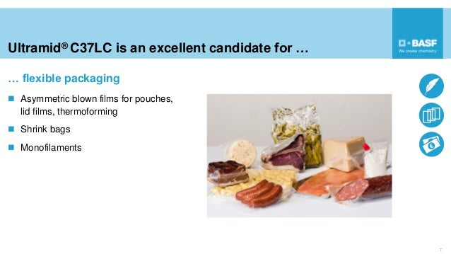 Ultramid® C37LC is an excellent candidate for … 7  Asymmetric blown films for pouches, lid films, thermoforming  Shrink ...